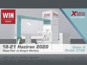 WIN Eurasia 2020 X-Treme Series Dry Cabinets Booth