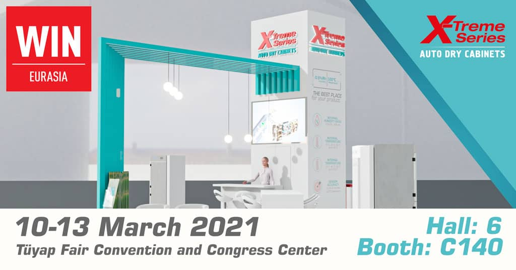 WIN Eurasia 2021, X-Treme Series Auto Dry Cabinets Booth